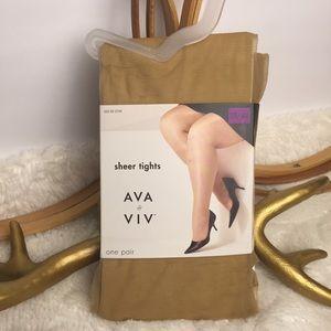 Target Brand Ava & Viv Sheer Tights • 3X/4X • Plus
